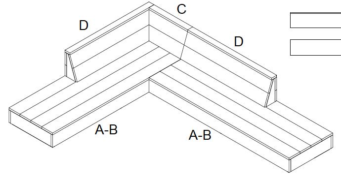 Waarvoor is de steigerhout bank tekening toepasbaar?