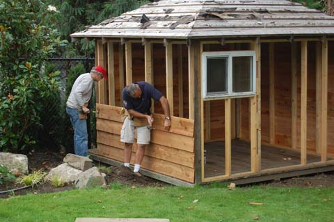 bouwtekening tuinhuis