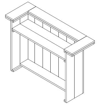 bouwtekening bar