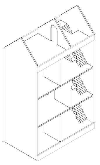 Ongekend Poppenhuis maken? Ik gebruikte deze bouwtekening en 9 tips, klik hier! HU-04