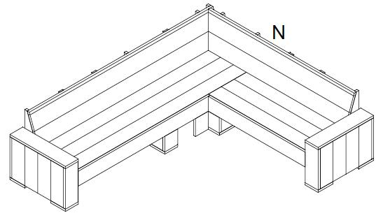 steigerhout hoekbank bouwtekening