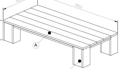 steigerhout tafel bouwtekening