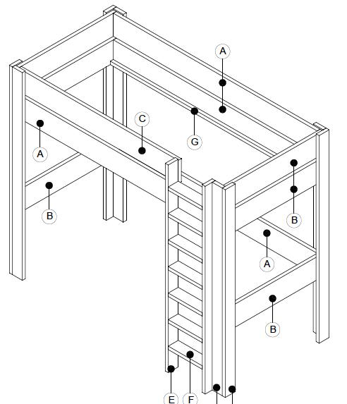 bouwtekening hoogslaper