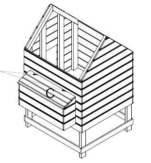 kippenhok bouwtekening