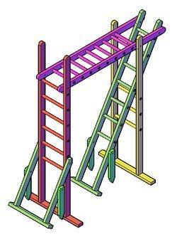 bouwtekening klimrek