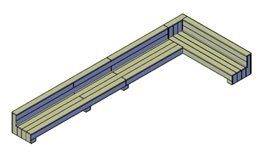 Extra lange hoekbank steigerhout bouwtekening