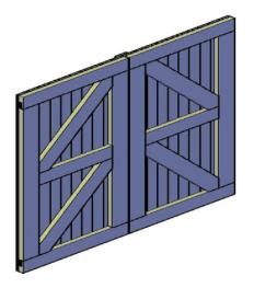 bouwtekening dubbele deur