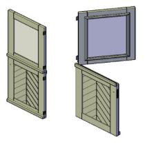bouwtekening duo deur