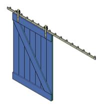 bouwtekening schuifdeur