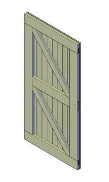 bouwtekening schuurdeur zonder raam