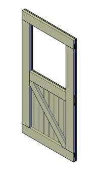 bouwtekening schuurdeur met raam