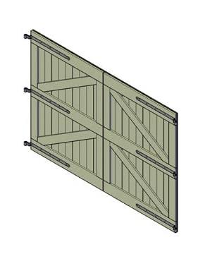 bouwtekening dubbele poort 1