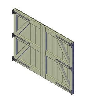 bouwtekening dubbele poort 2