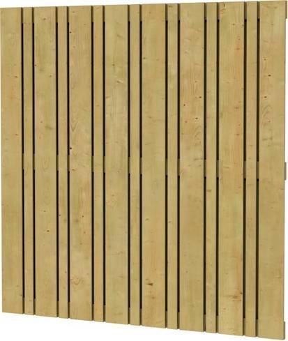 houten poort maken van tuinscherm
